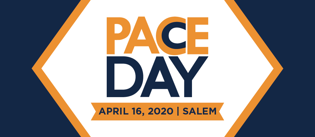 "words say ""PACE Day April 16, 2020 Salem"""