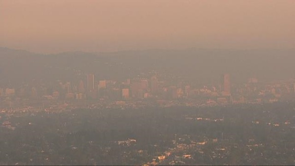 Photo of haze over Portland